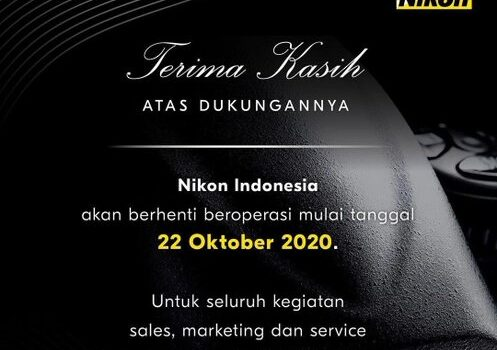 Nikon Resmi Pamit dari Indonesia!