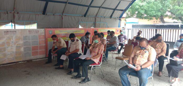 Rapat Satgas Covid19 di posko BPBD Pangkep, Kamis(8/10/2020