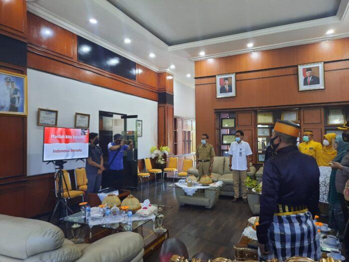 Pemerintah Kabupaten Pangkep mengikuti perayaan HUT ke-351 tahun Provinsi Sulawesi Selatan yang digelar secara virtual